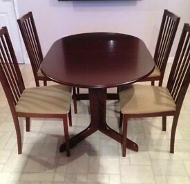 Dining Table and chairs Mahogany