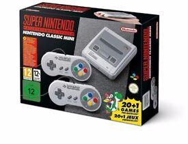 Nintendo classic mini (snes) new in box