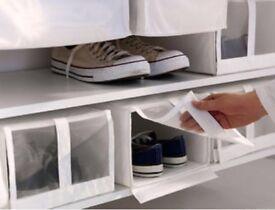 Ikea shoe storage boxes x 7