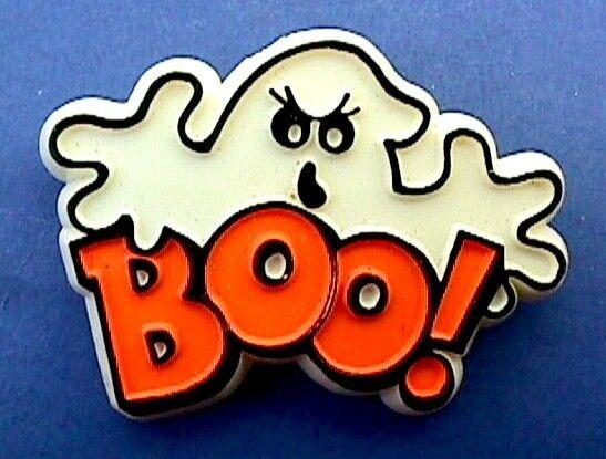 Hallmark PIN Halloween Vintage GHOST BOO! Mean Face Holiday Brooch