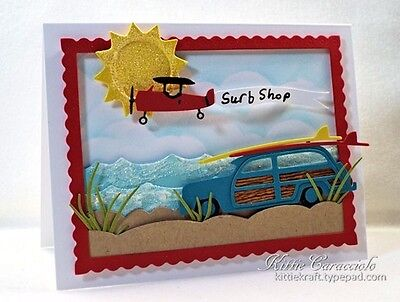 Impression Obsession PLANE WITH BANNER SET DIE DIE186-G New