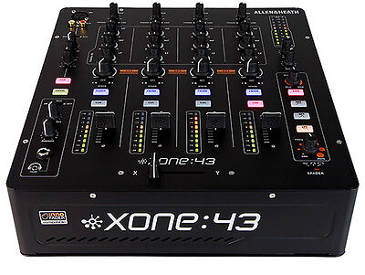 ALLEN AND HEATH XONE:43 FOUR CHANNEL DJ MIXER W/ FILTER  DJ EXPO DISPLAY