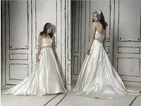 Justin Alexander brand new Ivory satin wedding dress. Size 12.