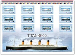 STAMPS COLLECTION - ERROR TITANIC Uncut Sheet Canada 2012