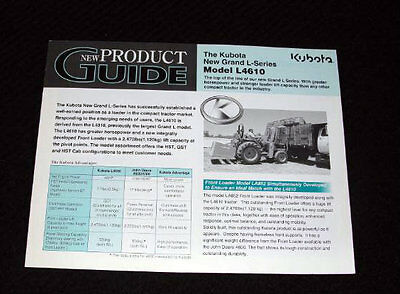 Original Kubota Dealer L4610 Tractor Vs John Deere 4600 4700 Brochure Very Nice