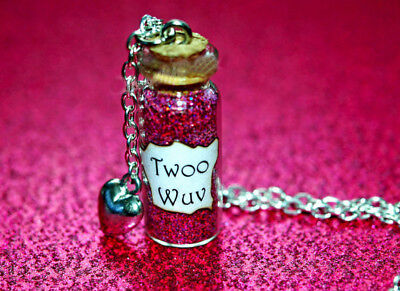 The Princess Bride  Twoo Wuv Necklace Heart Charm  Princess Buttercup
