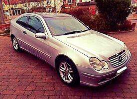 Mercedes Coupe C180 SE Kompressor * ULTRA LOW MILES; BRAND NEW MOT; FULL LEATHER; PANO SUNROOF *
