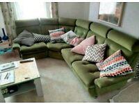 Retro Parker Knoll Corner Sofa Couch
