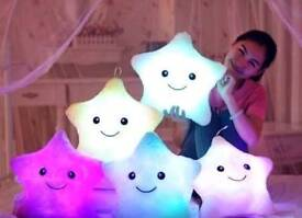 Luminous LED Star Pillows (batteries not included)