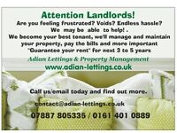 Guaranteed rent and zero voids to landlords - looking for 3 or more bedroom properties to rent