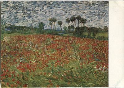 Alte Kunstkarte - Das Mohnfeld von Vincent van Gogh