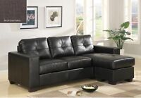 █♣█Blow out Sale*brand new modern LEATHER sectional sofa