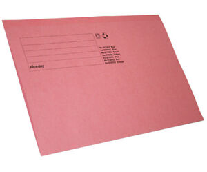Job Lot 200 x Pink Square Cut Folder Foolscap, AODCH5701PK, S4KX#