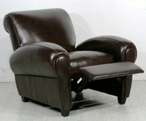 leather club chair recliner ebay. Black Bedroom Furniture Sets. Home Design Ideas