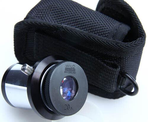 "WILD HEERBRUGG Swiss 20x Optics Eyepiece Ocular 1.25"" dia 387986"