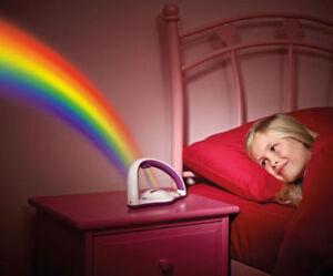 Amazing LED Rainbow Projector Light Colourful Night  Lamp Child Bedroom Kid Gift