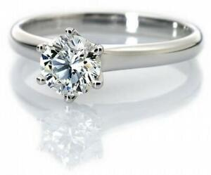1.04 carat new solitaire diamond ring 14K gold 5.855 CAD