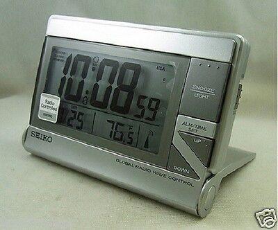 [Seiko] Alarm Clock world travel GLOBAL RADIO CONTROLLED QHR024s+Free Ship