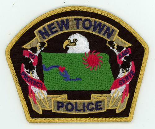 NEW TOWN POLICE NORTH DAKOTA ND NICE COLORFUL PATCH SHERIFF