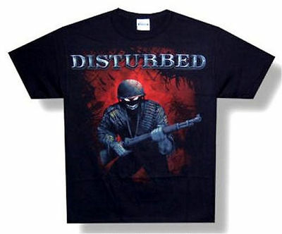 Disturbed Soldier Scary Guy Demon Black T Shirt New Official Band - Scary Demon