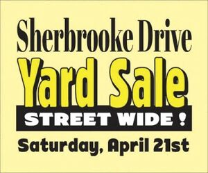 10am -HUGE- Estate, Yard, Garage Sale,  Saturday, April 21st