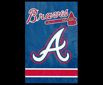 Atlanta Braves Applique - ATLANTA BRAVES Official MLB Team Dynamic Applique Premium WALL BANNER