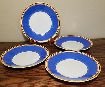 LENOX DKNY Urban Essentials Set of 4 Salad Plates/ Bowls pasta soup MARINE Blue