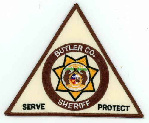 BUTLER COUNTY SHERIFF MISSOURI MO NICE TRIANGLE COLORFUL PATCH POLICE