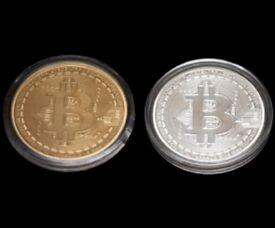 Gold And Silver Bitcoins Set with Cases Coin Casascius Bitcoin