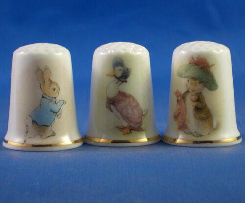 Birchcroft Thimbles -- Set of Three -- Beatrix Potter