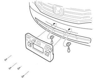 front license plate bracket ebay Raptor Fog Light Kit front license plate bracket honda accord
