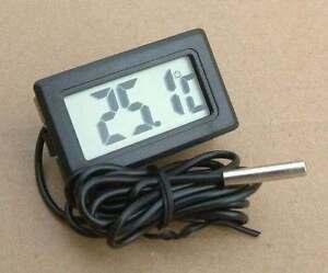 Thermometer digital LCD Temperatur Anzeige Messer Termometer  Aquarien 12V car