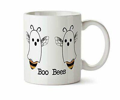 Boo Bees Halloween Funny Coffee Mug Boobies Pun Ghost Gift  Fall Save the Bees - Halloween Coffee Funny