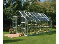 ALUMINIUM GREENHOUSES & STEEL STORAGE BOXES SHEDS, SUIT GARDENS GARDENER PLANTS TOOLS GROWING SEASON