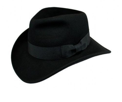 1f2eab239a5 Black Indiana Jones Hat