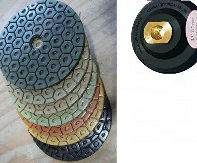 5 Polishing Pad 161 Pieces Best Quality Granite Concrete Stone Glass Mosaic