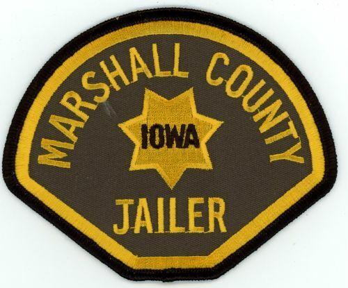 IOWA IA MARSHALL COUNTY SHERIFF JAILER NEW SHOULDER PATCH POLICE