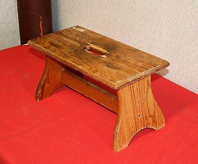 Fußbank Hocker Schemel Hitsche aus Holz alt