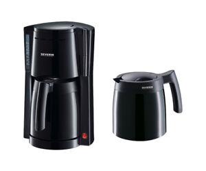 Severin KA 9234 Kaffeemaschine 8 Tassen schwarz mit 2 Thermokannen