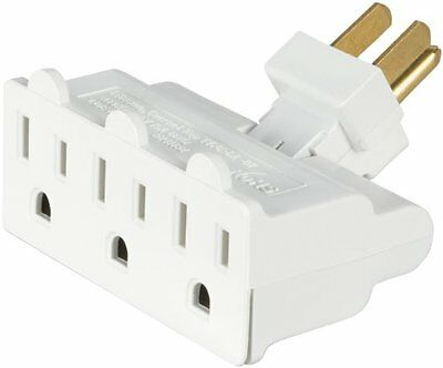 Eaton 1192w-sp 15-amp 2-pole 3-wire 125-volt Swivel Three Outlet Tap White
