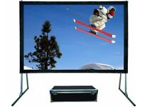 """NEW IN FLIGHT BOX High Quality Conference Projector Screen 120"""" Sapphire Luxury Rapid Fold SFFS244FR"""