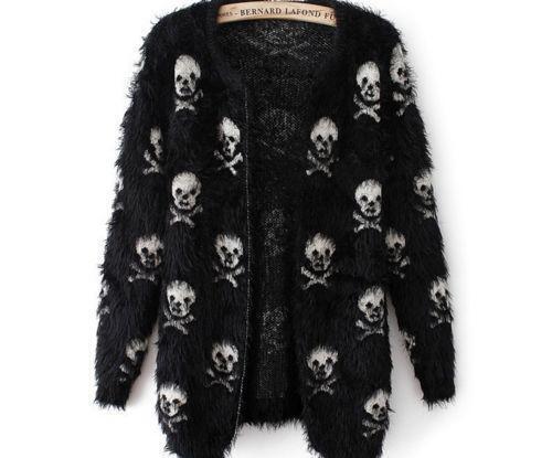 Skull Cardigan: Sweaters | eBay