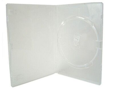 200 Single Slim Clear DVD Case 7 mm Spine New Empty Replacement Amaray Cover