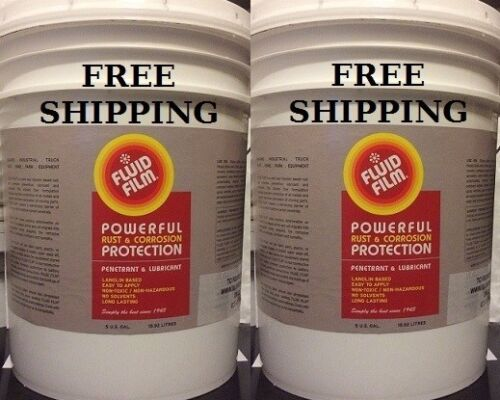 FLUID FILM NAS 5 GALLON PAIL, BUNDLE OF (2) ONLY $319.89 WITH FREE SHIPPING!