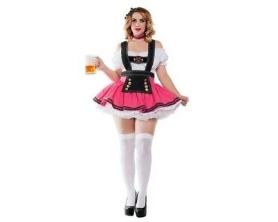 Women's Plus Size German Fancy Beer Girl Sexy Costume SIZE 2X - Plus Size Beer Girl Costume