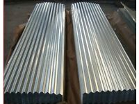 "CORRUGATED GALVANISED ROOFING SHEETS 8ft X 2ft 2"" 0.7mm thick FREE DELIVERY!"