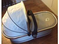 Icandy peach 2 carrycot in silvermint