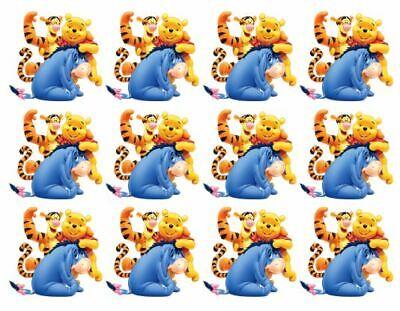 Disney Cake Toppers Winnie the Pooh Cupcake Toppers Edible Image Tigger, Eeyore