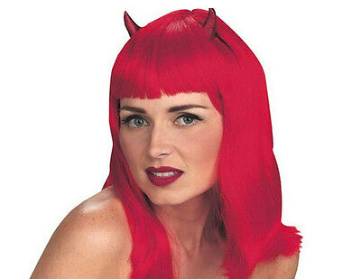Devil With Horns (Devilicious Sexy Red Devil Wig with)