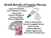 Cupping therapist (female) and aromatherapy practitioner